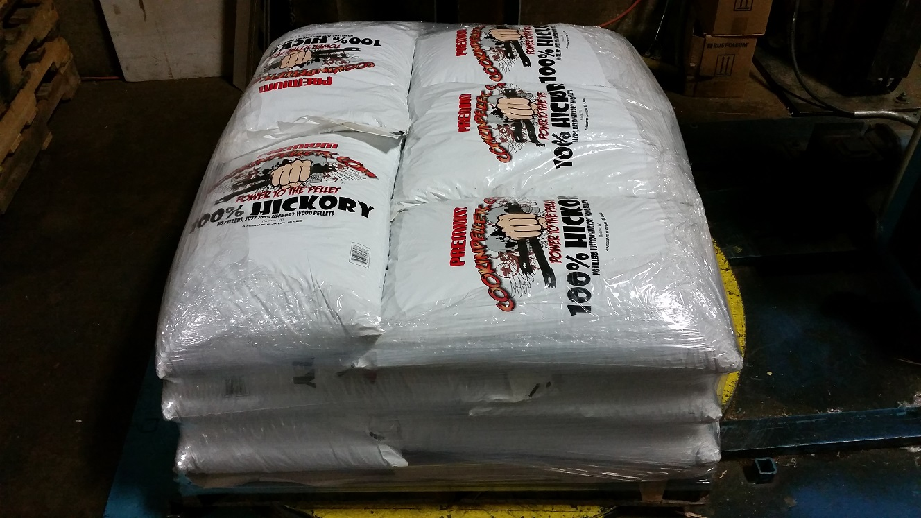 600 Lbs 100% Hickory Pellets