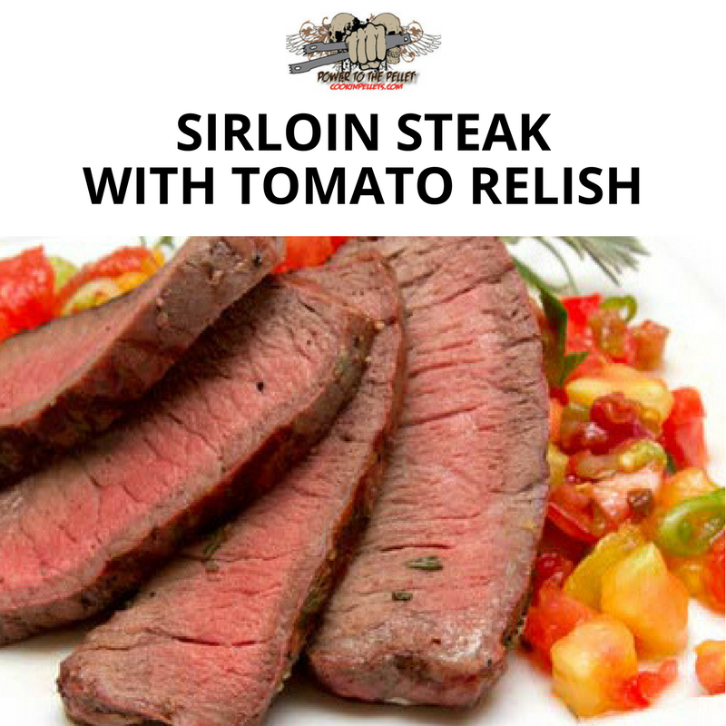 Sirloin Steak With Tomato Relish